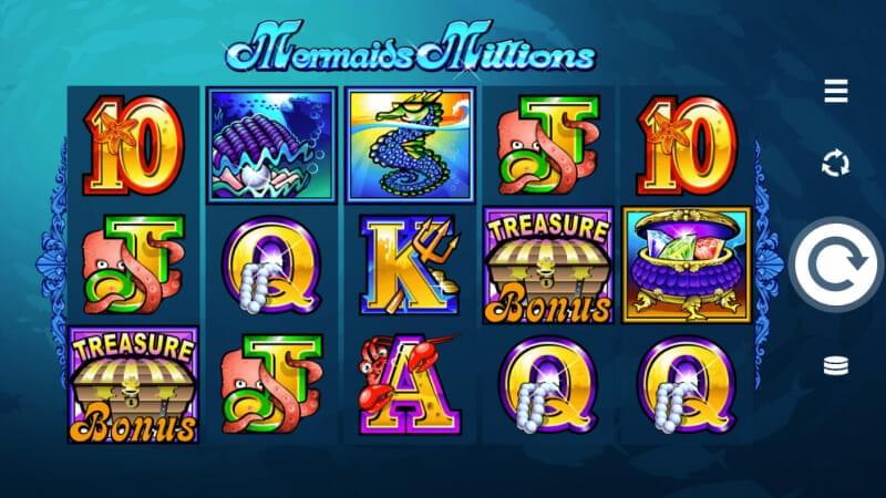 Грати безкоштовно ігровий автомат Mermaids Millions (Мільйони Русалок) Русалки, восьминоги, краби та інші морські мешканці допоможуть вам дістати з морського дна скрині скарби, а на цьому можна заробити мільйони.Як вам.Павловский Посад