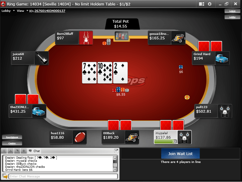 Intertops Poker - Table 1