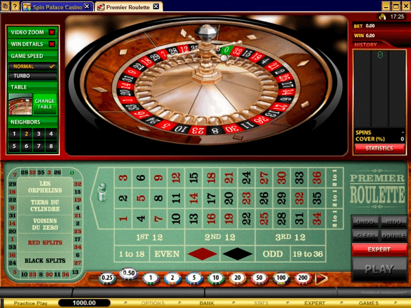 Spinpalace - Roulette Table View