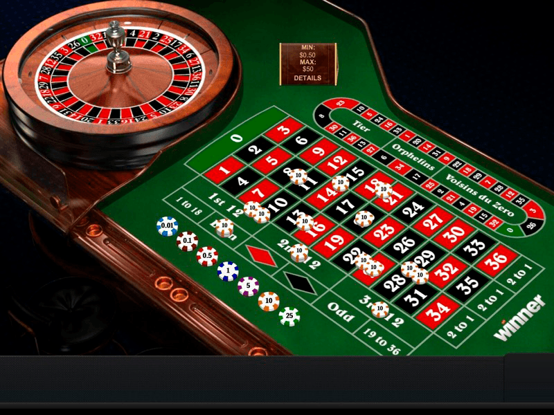 Winner - Roulette Table View