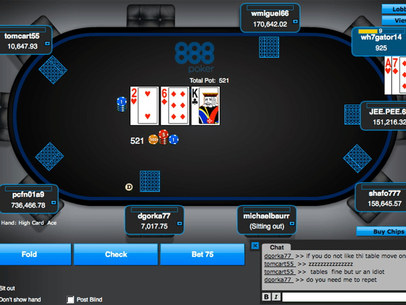 888 Poker - Poker Table One