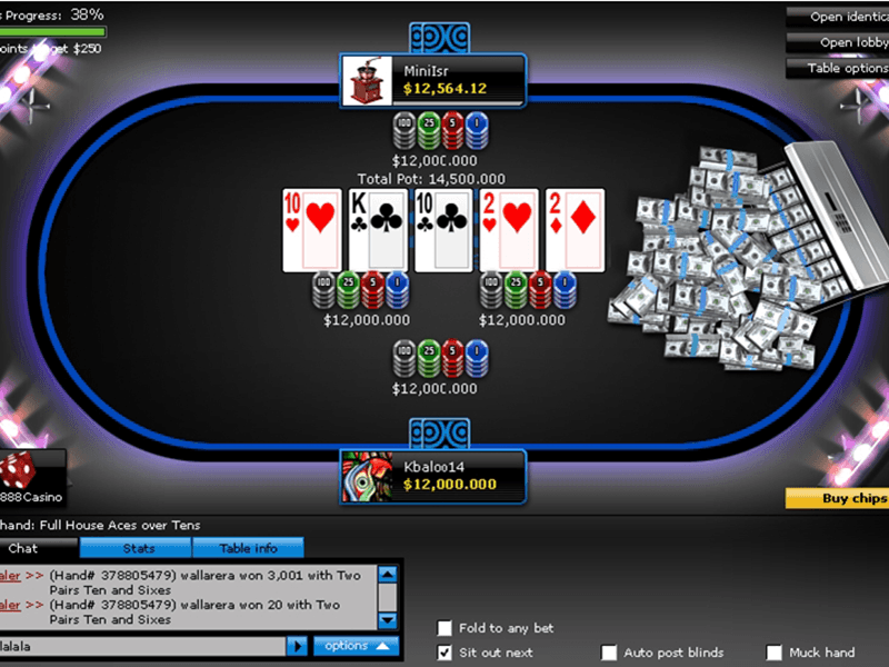 888 Poker - Poker Table Three