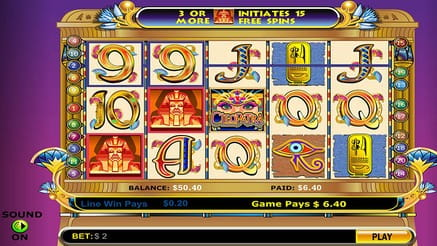 Cleopatra - Slots On Tablet