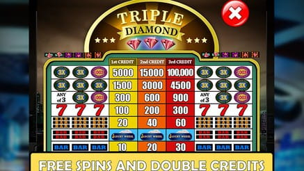 Double Triple Diamond - Free Spins And Double Credits