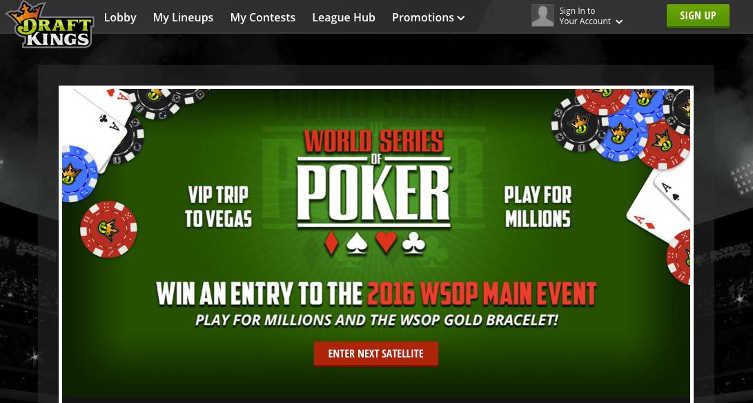 WSOP DraftKings satellite