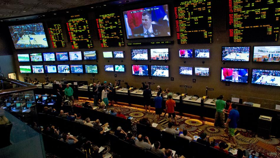 Nevada sportsbooks revenues New Jersey