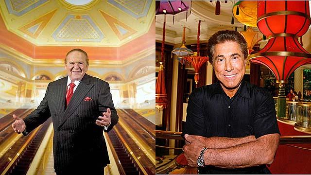Steve Wynn Sheldon Adelson Las Vegas NFL