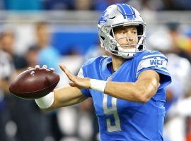 Matt Stafford is nursing a knee injury, but he said he should be ready to play on Sunday. (Image: MLive.com)
