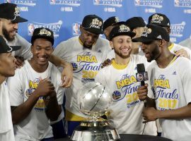 The Golden State Warriors won the 2017 NBA Championship and are favored to do so again this year. (Image: REXShutterstock)