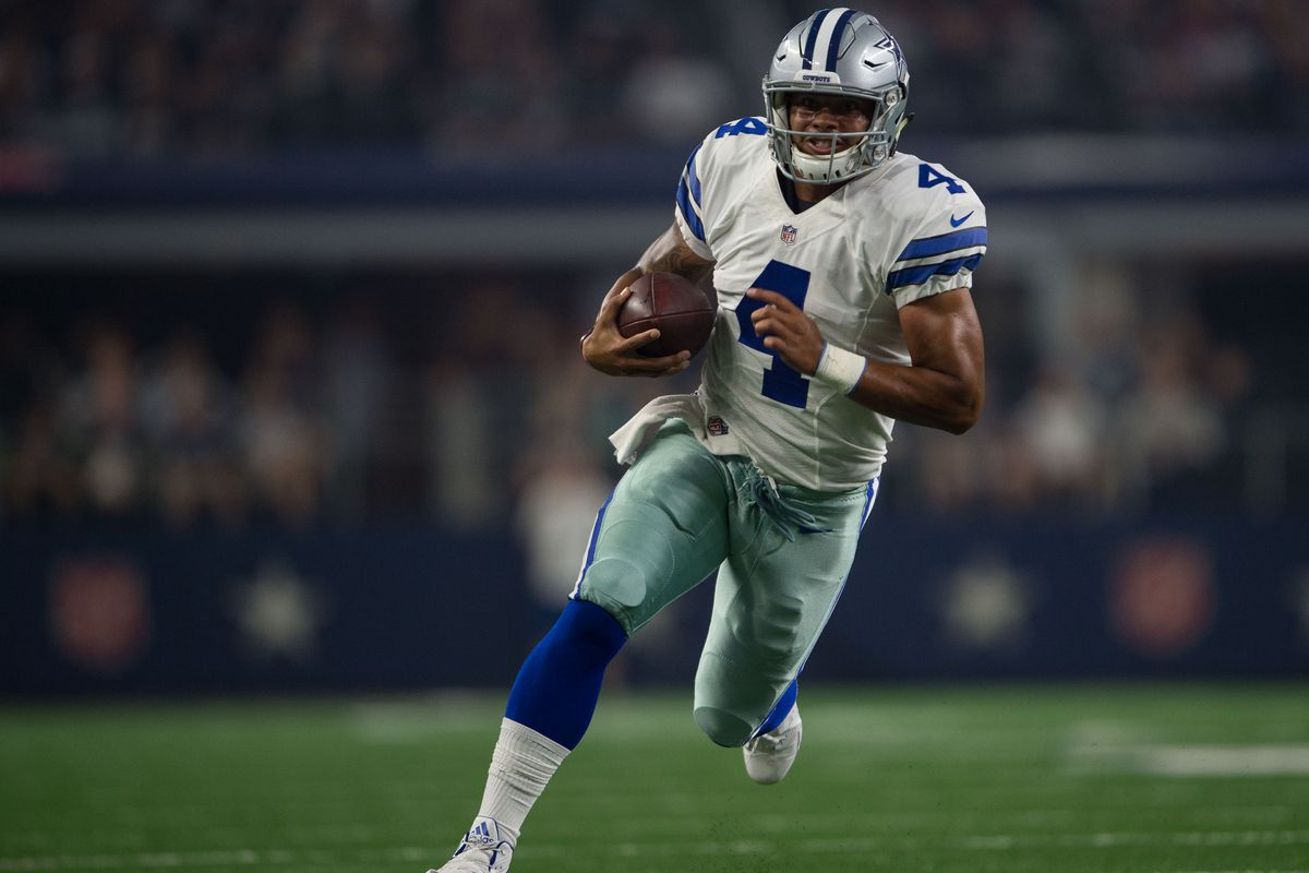 Dallas quarterback has had to do almost as much running as passing with the suspension of Ezekiel Elliott and the team has lost its last two games in Elliott's absence. (Image: USA Today Sports)