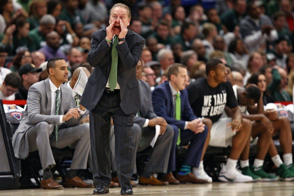 Michigan State Coach Tom Izzo wasn't happy that his team lost to Duke but oddsmakers still have them as the favorite to win the NCAA Championship. (Image: Mlive.com)