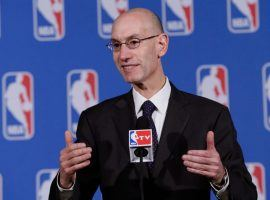 NBA Commissioner Adam Silver is a proponent of allowing legalized sports betting, but his league wants a cut of the action. (Image: SI)