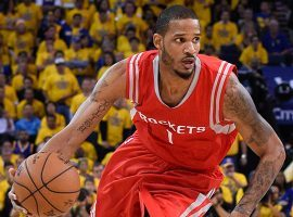 Trevor Ariza will return to the Houston Rockets lineup on Monday after serving a two-game suspension. (Image: Kyle Terada-USA TODAY Sports)