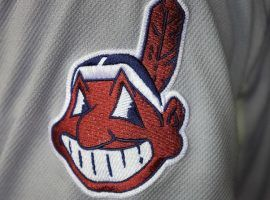 The Chief Wahoo logo has been downplayed in recent seasons, and the Indians will remove it entirely from on-field uniforms in 2019. (Image: Doug James/Icon SMI/Corbis/Getty)