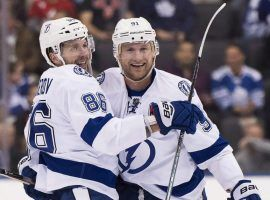 Tampa Bay will have Nikita Kucherov, left, and Steven Stamkos playing in Sunday's NHL All Star Game. (Image: Canadian Press)