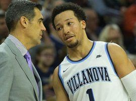 Villanova Coach Jay Wright and star guard Jalen Brunson have the Wildcats No. 1 in the polls as well as a 5-1 pick to win the NCAA Basketball Tournament. (Image: AP)