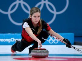 Kaitlyn Lawes and teammate John Morris are one step away from earning the first ever mixed doubles curling Olympic gold medal. (Image: Getty)