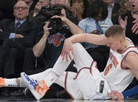 The injury to Kristaps Porzingis not only impacts the Knicks this season, but could affect their team for years to come. (Image: AP/Mary Altaffer)