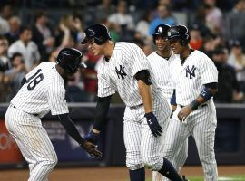 With a powerful hitting lineup, bookmakers have the New York Yankees as the favorite to win the 2018 World Series. (Image: Noah Murray/USA Today)