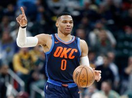 Russell Westbrook has seen All Stars Paul George and Carmelo Anthony join his Oklahoma City Thunder and the trio has had trouble at times working together. (Image: Getty)