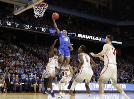 The Buffalo Bulls pulled off a memorable NCAA Tournament upset by defeating the Arizona Wildcats 89-68 on Thursday. (Image: AP/Otto Kitsinger)
