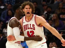 The Bulls have been warned by the NBA about resting healthy players down the stretch, including center Robin Lopez. (Image: Reuters/Kelley L. Cox/USA Today Sports)