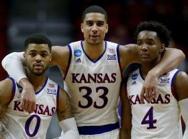 The Kansas Jayhawks enter the Big 12 Tournament as the favorites, but anyone in the field could put together a run and win the conference championship. (Image: Jonathan Daniel/Getty)