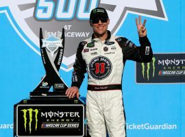Kevin Harvick won his third consecutive NASCAR race on Sunday, the first time since 2015 that a driver has won three in a row in the series. (Image: Jonathan Ferrey/Getty)
