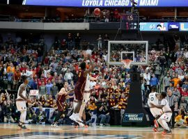 The Loyola-Chicago Ramblers will take on Nevada in the Sweet 16 after winning their first two games in dramatic fashion. (Image: Tom Pennington/Getty)