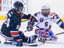 Para ice hockey, also known as sledge hockey or sled hockey, has become a premier event at the Paralympic Winter Games. (Image: Getty)