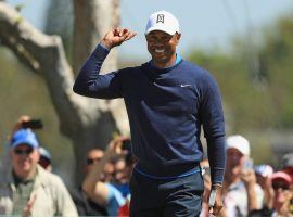 Tiger Woods was one stroke behind the leaders at the final round of the Arnold Palmer Invitational on Sunday, but tied for fifth after consecutive bogeys. (Image: Getty)