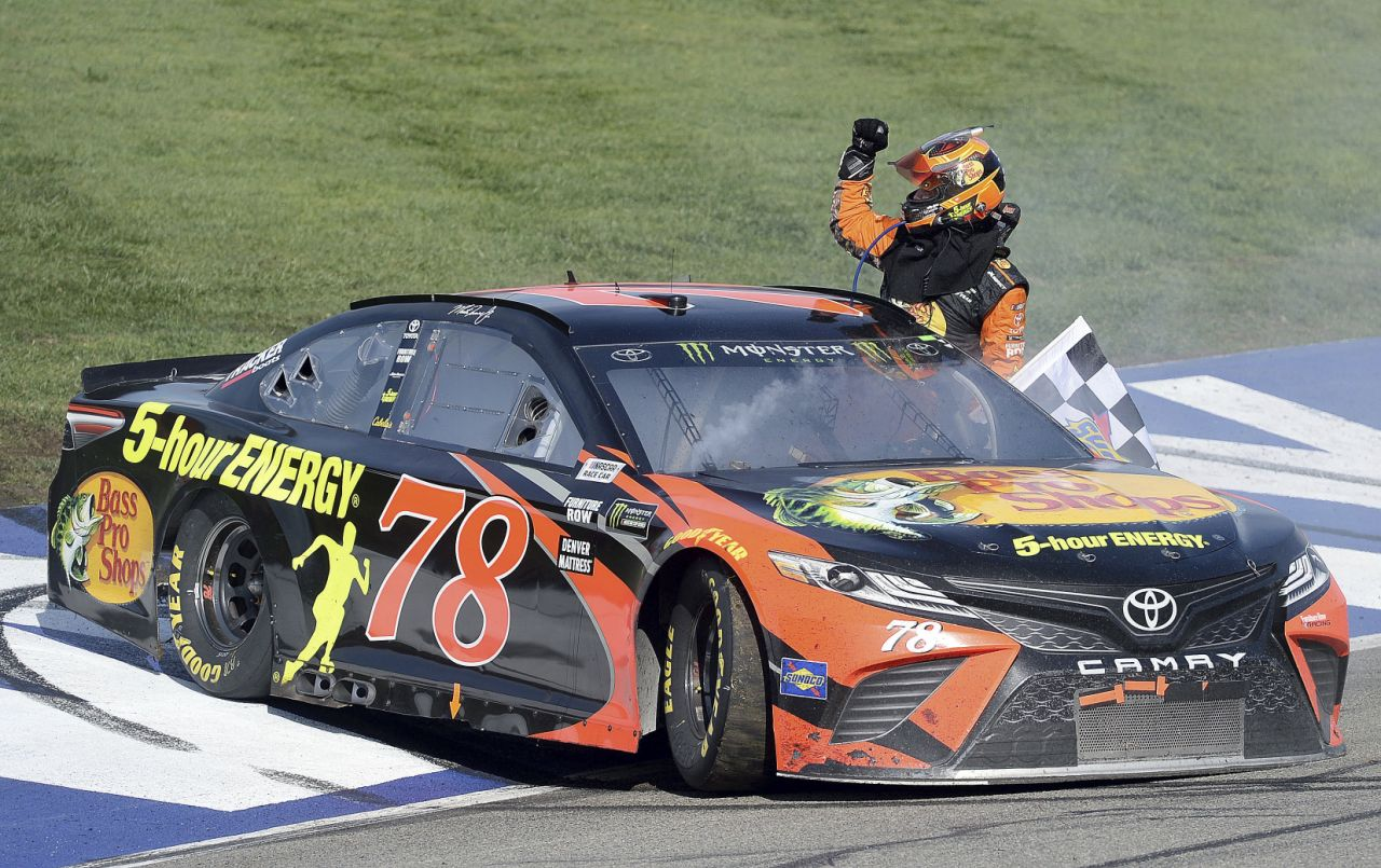 Martin Truex Jr. Wins at Fontana to Deny Kevin Harvick Fourth Straight Victory Lap
