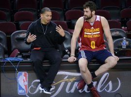 Cleveland lost Coach Ty Lue due to health reasons, but forward Kevin Love returned to the lineup on Monday after more than a month on injured reserve with a fractured left hand. (Image: Getty)