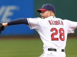 Right-handed ace pitcher Corey Kluber won the Cy Young Award last year and Las Vegas has set his 2018 victory total at 16.5. (Image: Cleveland.com)