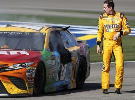 Kyle Busch comes into Martinsville as the favorite to win on Sunday after finishing second last year. (Image: Getty)
