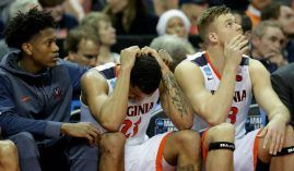 Virginia players were shocked that they lost in the first round of the NCAA Tournament. (Image: Getty)