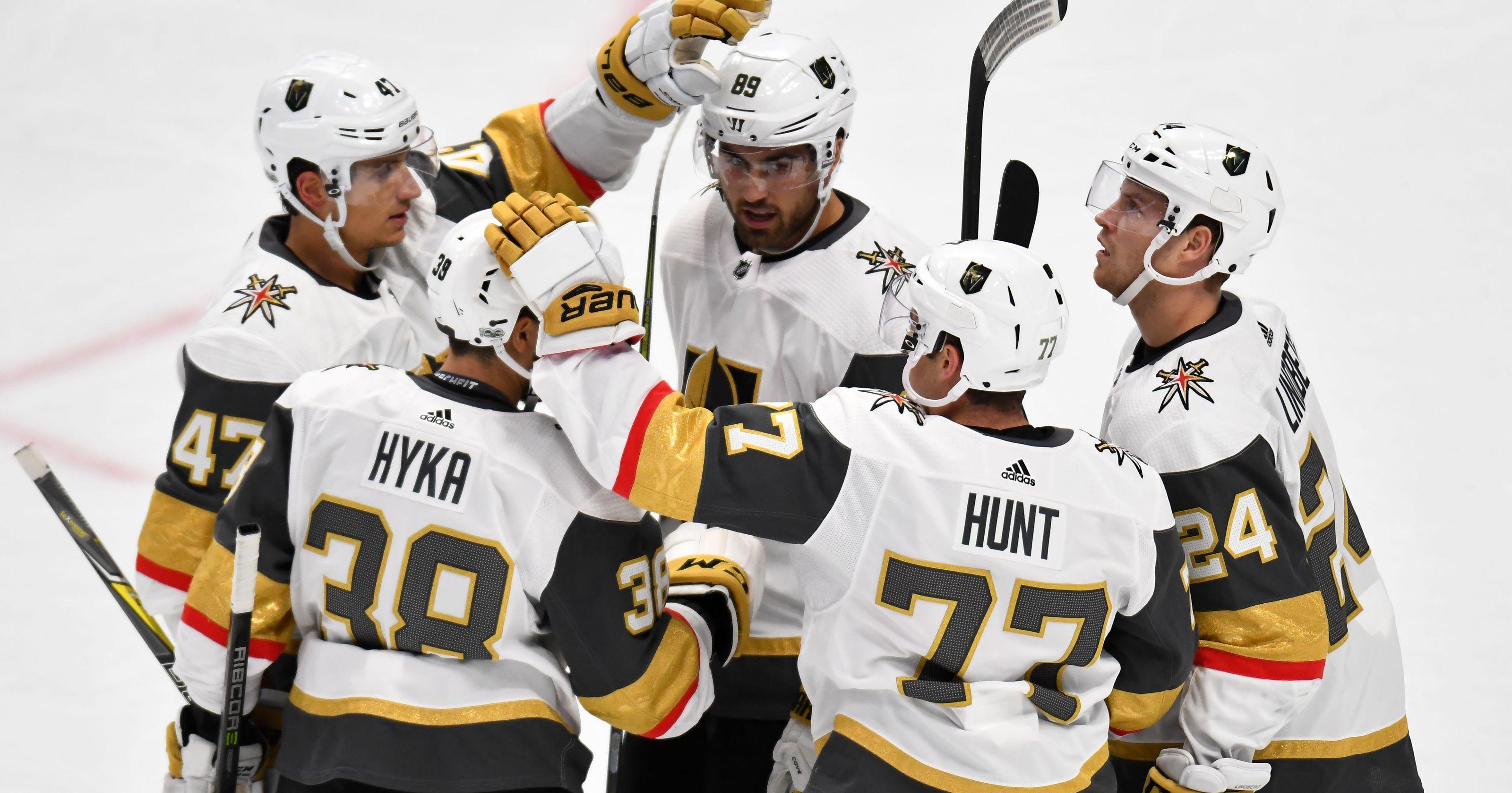 Vegas Golden Knights celebrate sweep