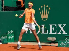 Rafael Nadal was dominant in his opening match victory over Aljaz Bedene at the Monte Carlo Masters. (Image: Getty)