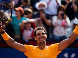 Rafael Nadal celebrates his 11th career victory at the Barcelona Open after easily defeating Stefanos Tsitsipas in the final. (Image: Getty)