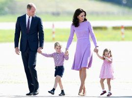 Prince William and Kate Middleton, seen here with their children George and Charlotte, are expecting their third royal baby any day now. (Image: Samir Hussein/WireImage)
