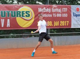 David Juras plays at an ITF Futures Tour event in Trnava, Slovakia. The Independent Review Panel said small events like these are most prone to match fixing. (Image: Empire Tennis Academy)