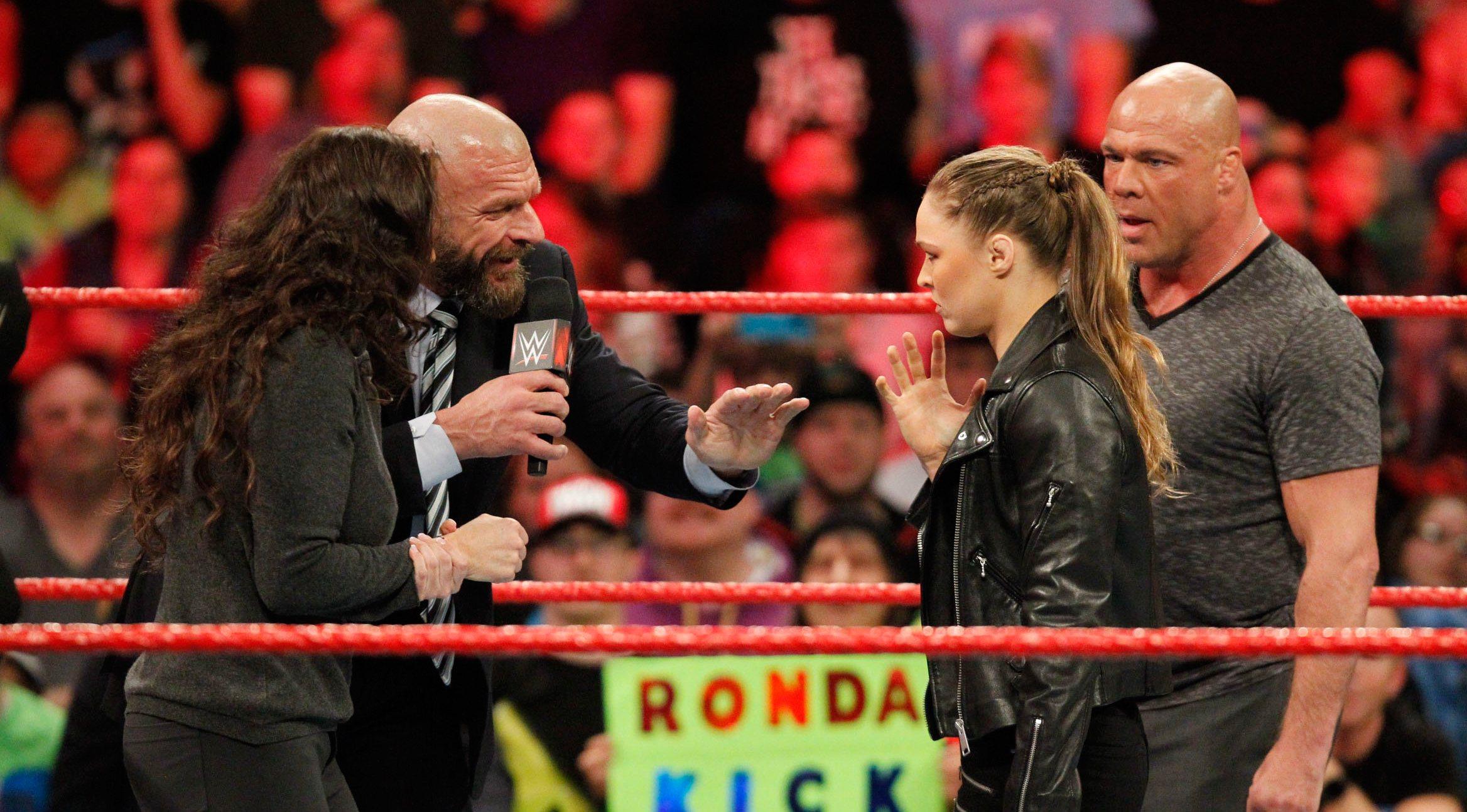 WrestleMania 34 Rousey McMahon