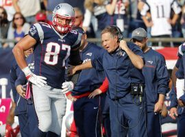 New England Tight End Rob Gronkowski has considered retirement, and is supposedly tired of playing for Head Coach Bill Belichick. (Image: AP)