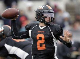 Johnny Manziel participated in the Spring League games in Texas to try and impress the NFL scouts in attendance. (Image: AP)