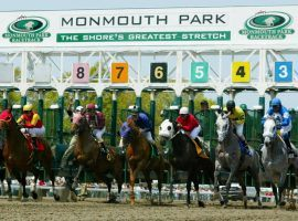 Horses leave the starting gate during a race at Monmouth Park. The track hopes to offer sports betting if the Supreme Court rules in New Jersey's favor in Christie v. NCAA. (Image: AP/Equi-Photo/Bill Denver)
