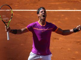 Rafael Nadal celebrates after defeating Novak Djokovic in the 2017 Madrid Open semifinals. (Image: Reuters)
