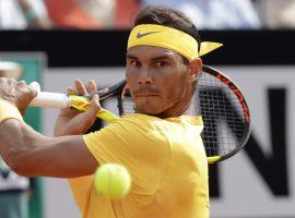 Rafael Nadal returns a ball in his victory over Alexander Zverev during the final of the Italian Open in Rome. Nadal is heavily favored to win the French Open. (Image: AP)