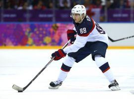 Patrick Kane leads the USA into the Semi Finals. (Source: WGN-TV)