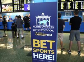 William Hill operates the sportsbook at Monmouth Park in New Jersey, which just opened for business on Thursday. (Image: Reuters)