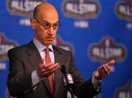 NBA Commissioner Adam Silver has been a proponent of states paying an integrity fee for sports betting. (Image: USA Today Sports)